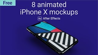 Animated iPhone X Mockups - After Effects Template