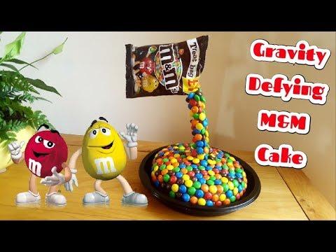 How To Make A M&M Gravity Defying Birthday Cake