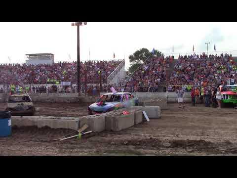 Dodge County Beaver Dam Wi Demo Derby 08/19/2018 Event 2 Midsize Heat 1