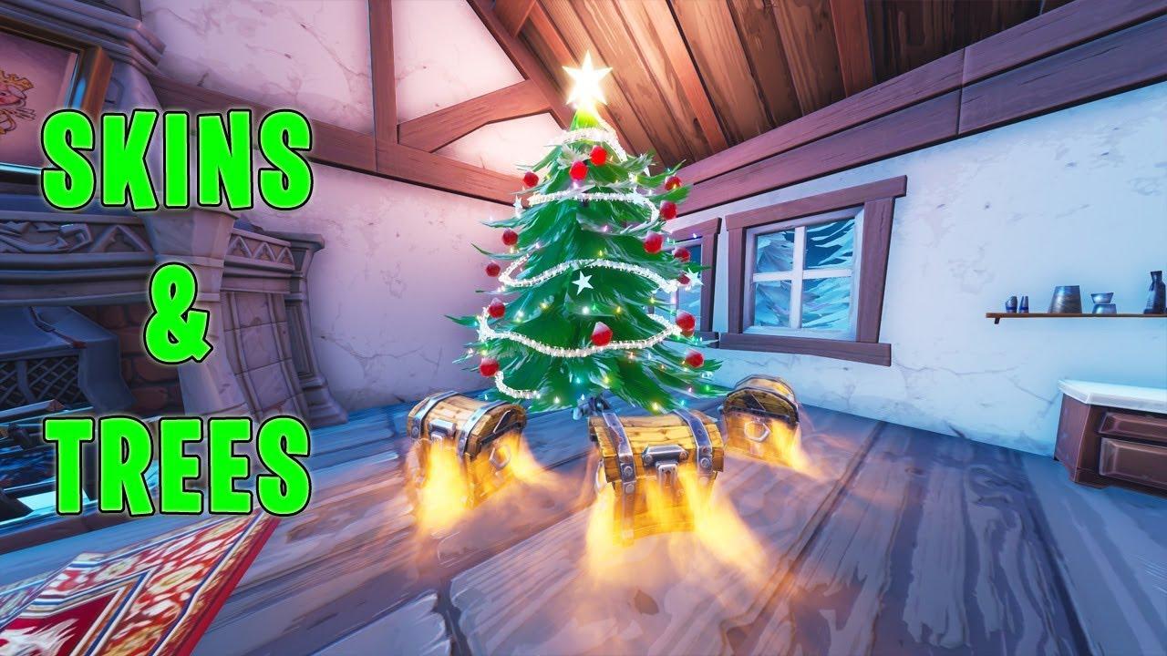 Fortnite Christmas Tree.Fortnite Winter Skins Coming Soon Christmas Trees Locations