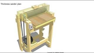 Thickness Sander Plan- Rebajadora De Espesores- Luthier-
