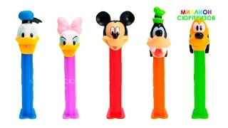 PEZ Dispensers Микки Маус Дисней Клуб | Распаковка PEZ  Mickey Mouse Club House для самых маленьких
