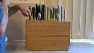 Make A Custom Knife Block From A Shelf