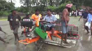 Sreenivasan riding Transplanter