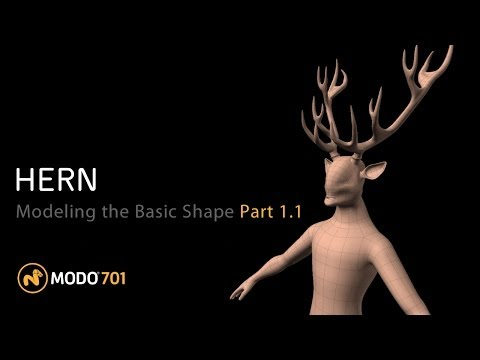 Tutorial: Mythical Character Creation in Modo: Hern - Part 1-1