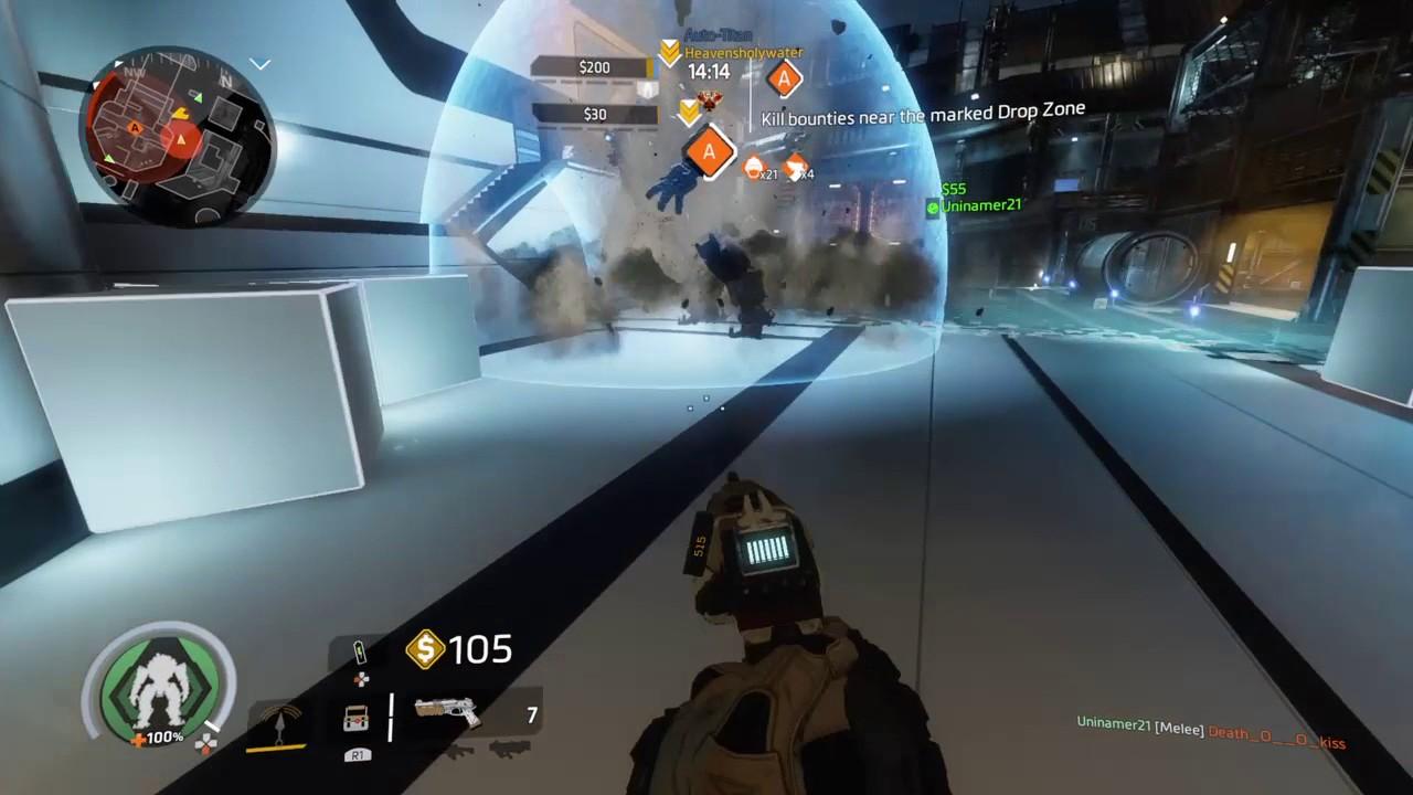Titan fall 2 Laser trip wire multi kill - YouTube