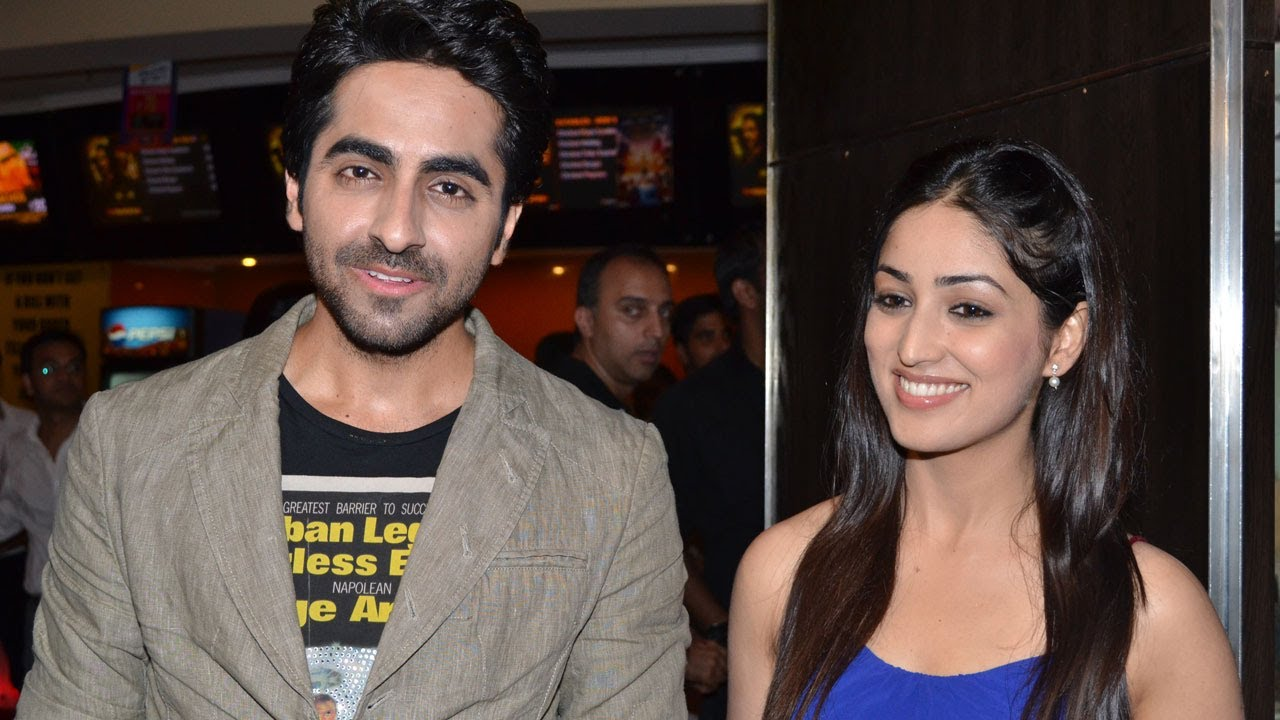 Premiere of Vicky Donor | Ayushmann Khurrana, Yami Gautam ... Yami Gautam And Ayushmann Khurrana In Vicky Donor