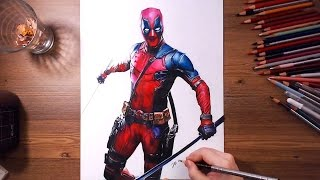 Deadpool (Wade Wilson) - speed drawing | drawholic