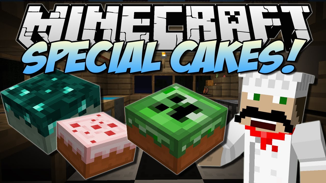 Minecraft Special Cakes The Cake Is A Lie Mod Showcase  Youtube