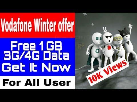 Vodafone Winter offer    Get 1GB Free Data free on THP    My Vodafone App