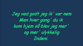 Anna David - Brænder mig her lyrics
