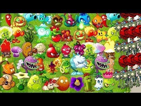 Plants vs. Zombies 2 Every Premium Plant Max Level Power Up vs Balloon Zombies