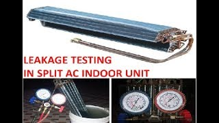 How to fix refrigerant leakage problem in Split AC   how to check gas leakage in Split Ac & fix it