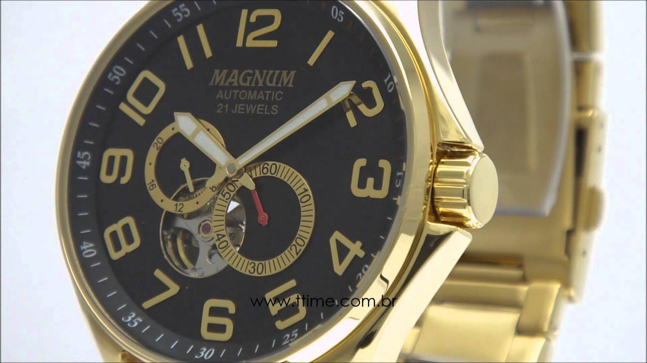 e667c0c3d5b Relógio Magnum Automatic 21 Jewels MA33942U | Doovi