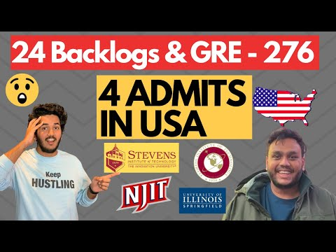 I had 24 Backlogs & Only 276 in GRE but Still Got 4 Top Admits | Ft. Alak