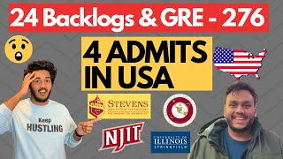 I had 24 Backlogs \u0026 Only 276 in GRE but Still Got 4 Top Admits | Ft. Alak
