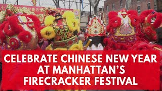New York's Chinatown celebrates Chinese New Year with firecrackers and dancing dragons