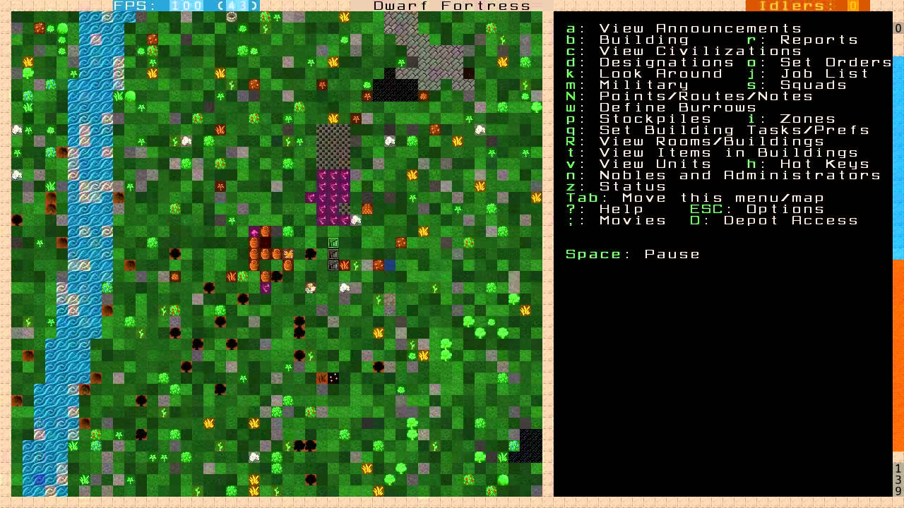 Dwarf Fortress 2011 Tutorial — Part 10 — How to make a well and making a  safe fort!