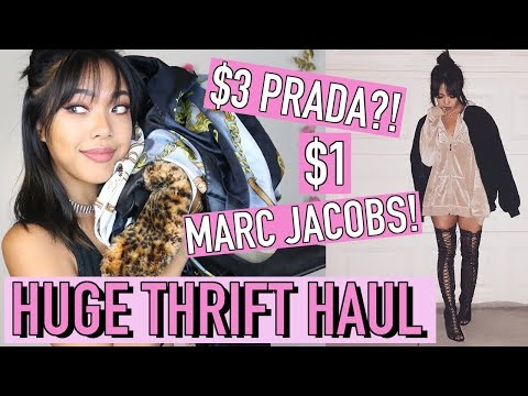 BIRTHDAY THRIFT HAUL! $3 PRADA, $1 MARC JACOBS! | Nava Rose