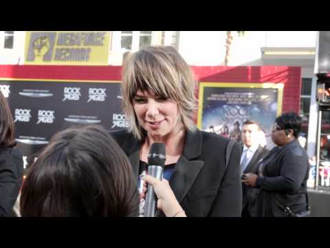 Mia Michaels with Martha Quinn at the Rock of Ages Movie Premiere