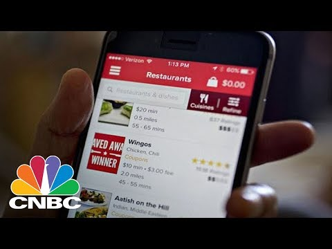 Food-Delivery Apps GrubHub, Seamless, Amazon Key, And DoorDash Hit The Big Time | CNBC