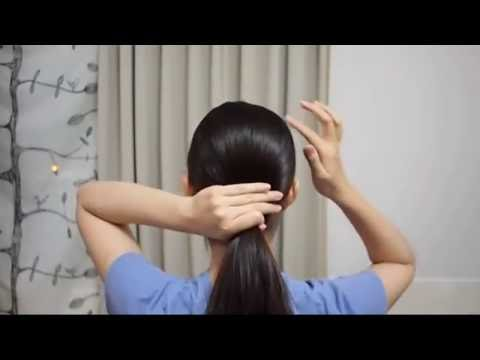 不用髮圈綁頭髮 // 簡單馬尾 - YouTube