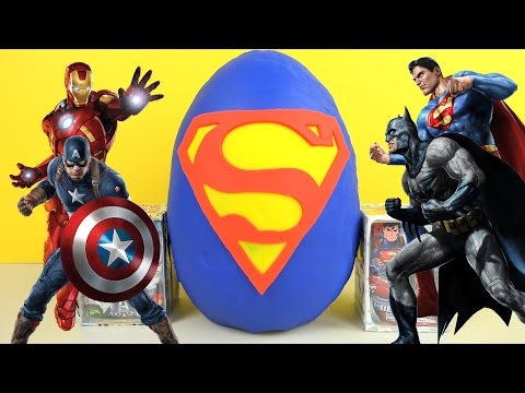 Superhero Giant Play-Doh Surprise Egg Superman Batman Marvel Avengers Ninja Turtles