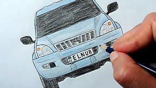 Toyota Prado masini nece cekilir(Ehedov Elnur)Как нарисовать машину Toyota Land Cruiser Prado