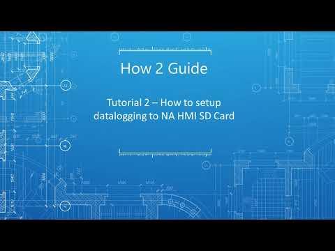 How 2 Guide | Tutorial 2 - How to setup cataloging to NA HMI SD Card