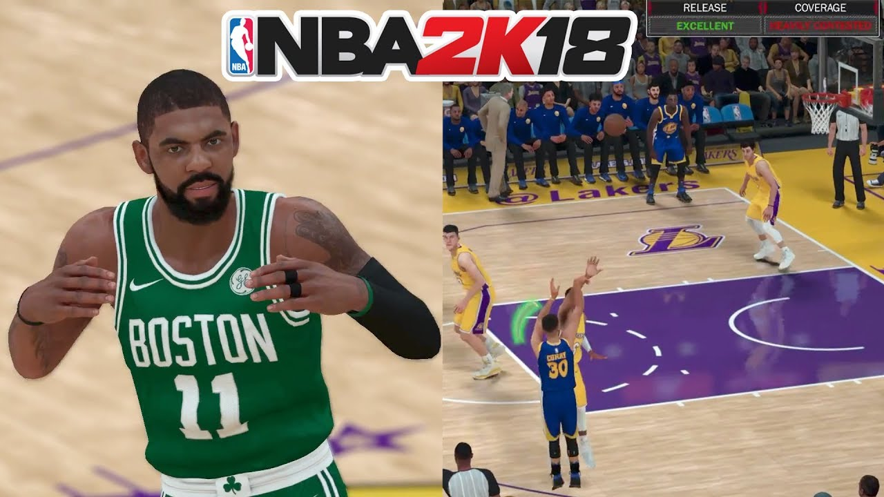 19a8b000a65c NBA 2K18 NEW SHOT METER REVEALED! KYRIE IRVING IN A BOSTON CELTICS ...