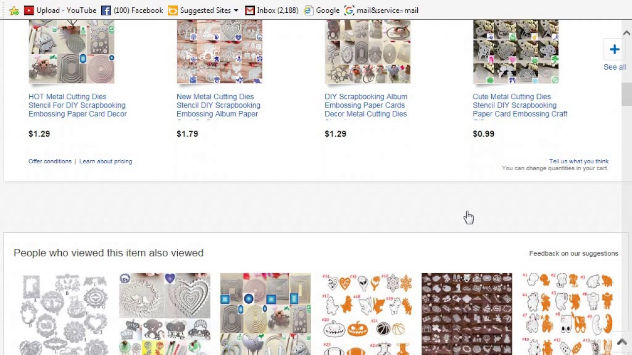 Cheap Craft Supplies On Ebay Shop With Me Youtube
