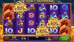 Dragon Champions Online Slot from Playtech - Dragon Fire Feature, Free Games - big wins!