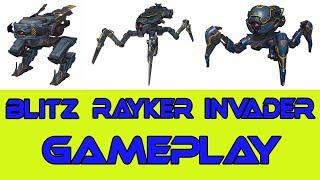 War Robots Blitz Rayker Invader Test Server Gameplay