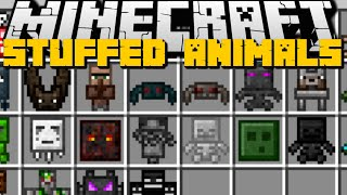 Minecraft: STUFFED ANIMALS MOD (WITHER, ENDER DRAGON, YOU & More!) Mod Showcase