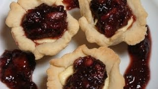 Goat Cheese Tartelettes With Fig Compote