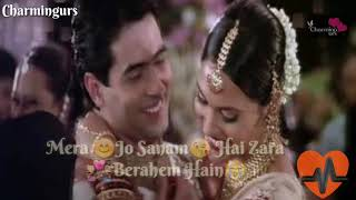 Mera Jo Sanam Hai Zara Berahem Hain  Kisi Sa Tum Pyar Karo Heart Touching Song