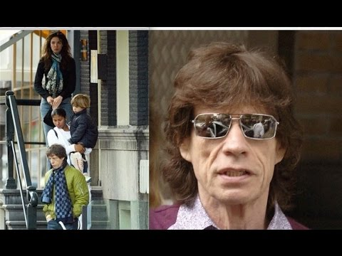 Mick Jagger   Luciana Gimenez Morad   Lucas Maurice in Amsterdam. 132ed21863