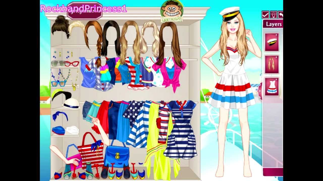 Dress up xl games - Navy Style Barbie Dress Up Game