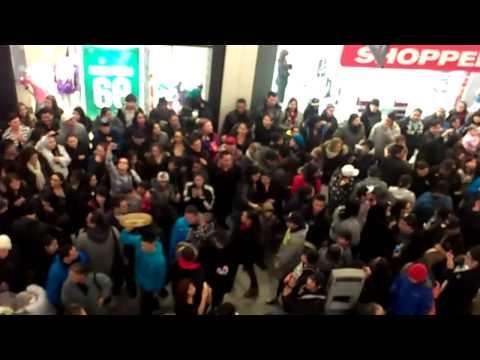 Flash mob round dance mid town plaza saskatoon