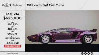 Vector W8, chassis 009. RM Sotheby´s Auction, Arizona 2020
