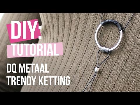 Sieraden maken: Trendy ketting met ring van DQ metaal ♡ DIY
