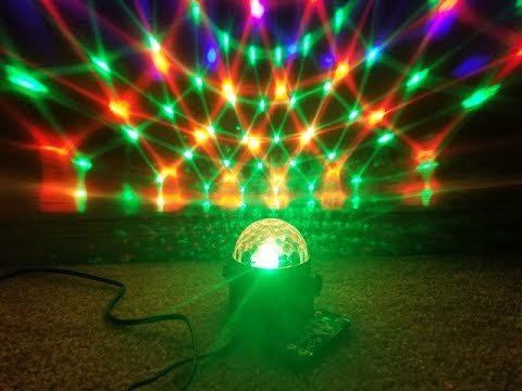 spriak 7 color led party disco ball strobe light with remote