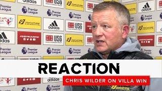 Chris Wilder | Sheffield United v Aston Villa | Reaction interview