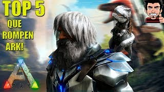 TOP 5 MODS ROMPEN ARK POR COMPLETO ARK SURVIVAL EVOLVED PS4 XBOX PC GAMEPLAY ESPAÑOL