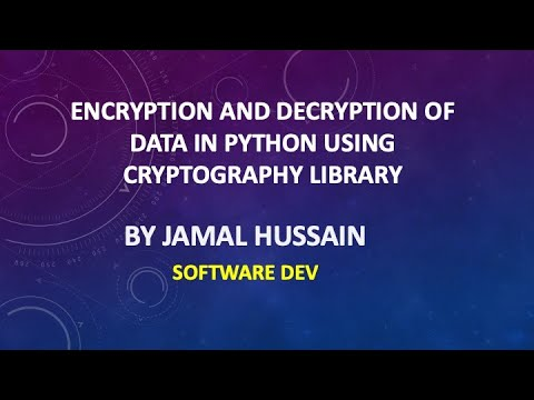 How to encrypt and decrypt data using Cryptography Library Python