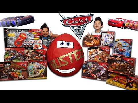 Thumbnail: Disney Cars 3 Toys Worlds Biggest Surprise Egg Toy Collection Lightning Mcqueen