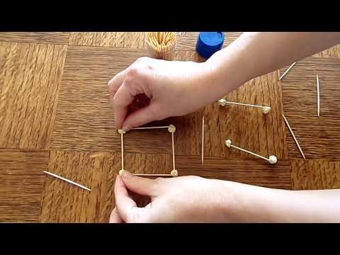 Comment réaliser un cube avec des cure-dents ?