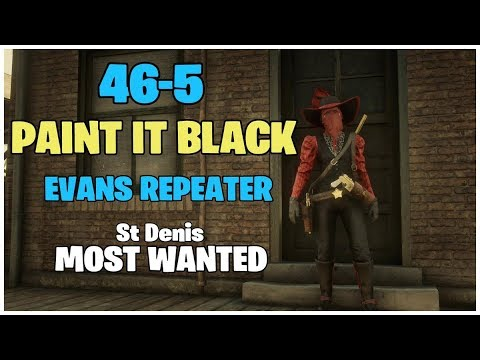 RANK 365 RED DEAD REDEMPTION 2 ONLINE // MOST WANTED 46-5 // EVANS REPEATER PAINT IT BLACK thumbnail