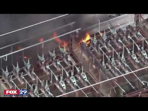 Fire Spreads Through PECO Substation in North Philadelphia | firefighting
