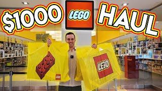Spending $1000 at the LEGO Store!